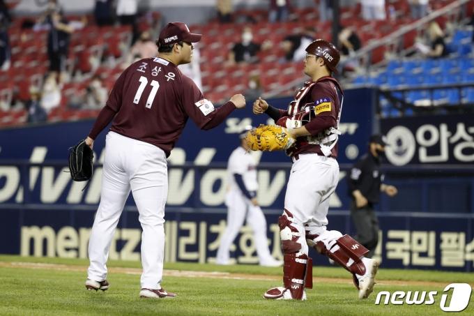 [사진] 두산 상대 3대0 승리 거둔 키움