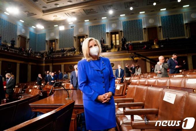 리즈 체니 미국 공화당 하원 의원총회 의장. © AFP=뉴스1 © News1 우동명 기자