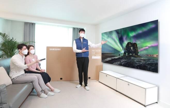 '거거익선' 대세… 75인치↑ TV 국내 판매 158% '껑충'