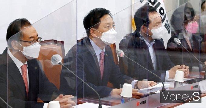 """[머니S포토] 국힘 김기현 """"문재인 정권, 국정운영 민심없고 오로지 문심 뿐"""""""