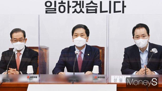 """[머니S포토] 김기현 """"임·박·노 3명 인사 문제 靑과 與 국민 무시하는 오만 가득"""""""