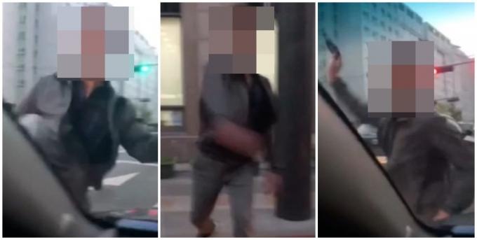 술에 취한 한 남성이 도로에 있던 차량을 무차별적으로 부수는 일이 일어났다./ 사진=온라인 커뮤니티 캡처