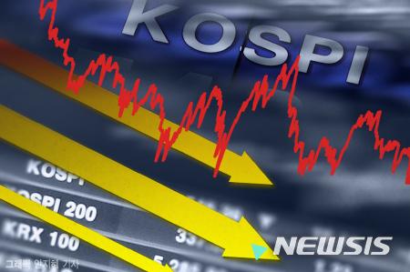 코스피가 미국발 인플레이션 공포에 1%대 하락 마감했다./사진=뉴시스
