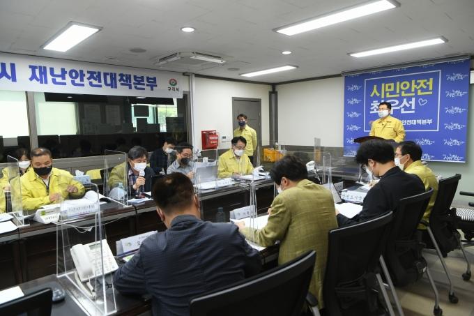 안승남 구리시장, 서울시승마협회 승마대회 개최 관련 긴급 브리핑 장면. / 사진제공=구리시
