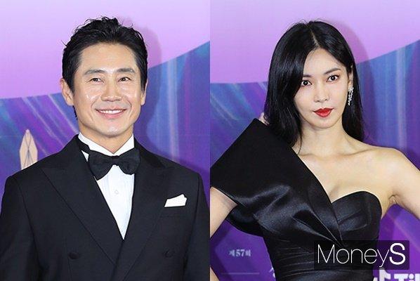 배우 신하균과 김소연이 TV부문 최우수연기상을 수상했다. /사진=백상예술대상 사무국 제공