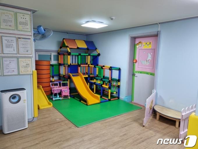 13일 오전 방문한 금천구의 한 민간 어린이집.© 뉴스1