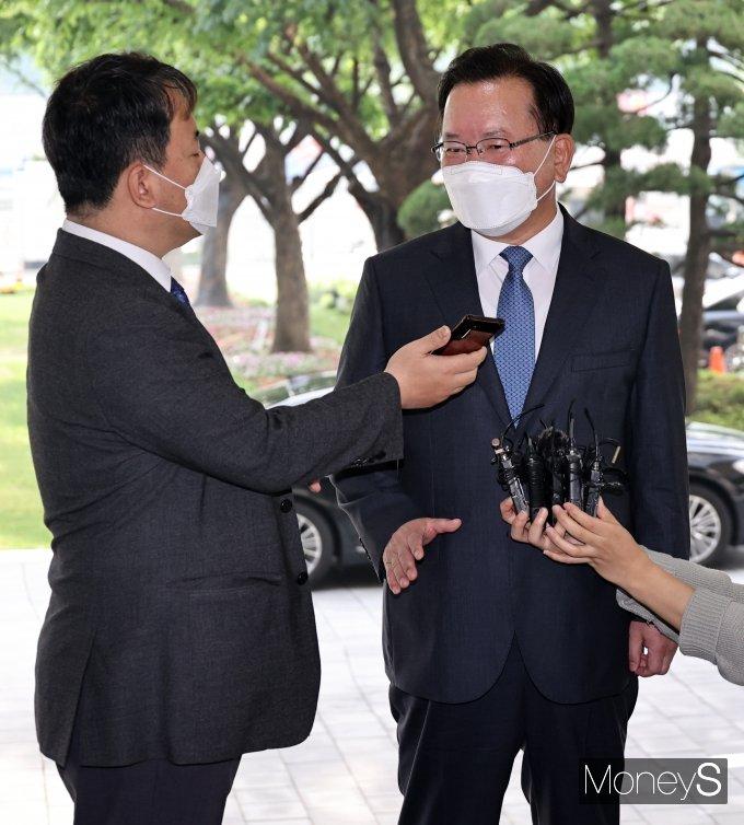 """[머니S포토] 김부겸 """"통합 지향하는 총리가 되겠다"""""""