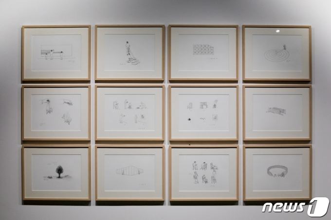 안규철 개인전 '사물의 뒷모습' 전시전경© 뉴스1