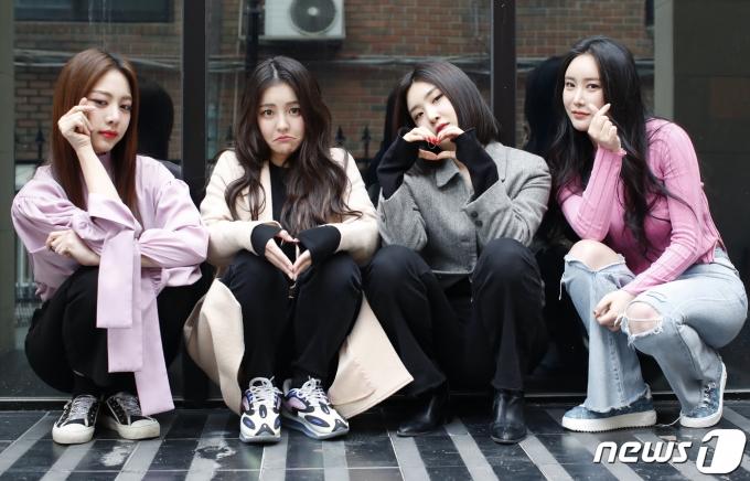 브레이브걸스(BraveGirls) 은지(왼쪽부터), 유정, 유나, 민영© News1