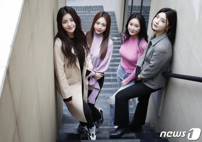 브레이브걸스(BraveGirls) 유정(왼쪽부터), 은지, 민영, 유나© News1