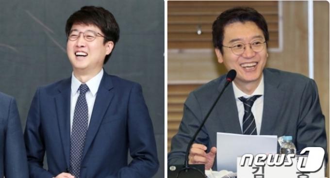 국민의힘 당권 도전에 나선 김웅 의원(오른쪽)과 이준석 전 최고위원. © 뉴스1