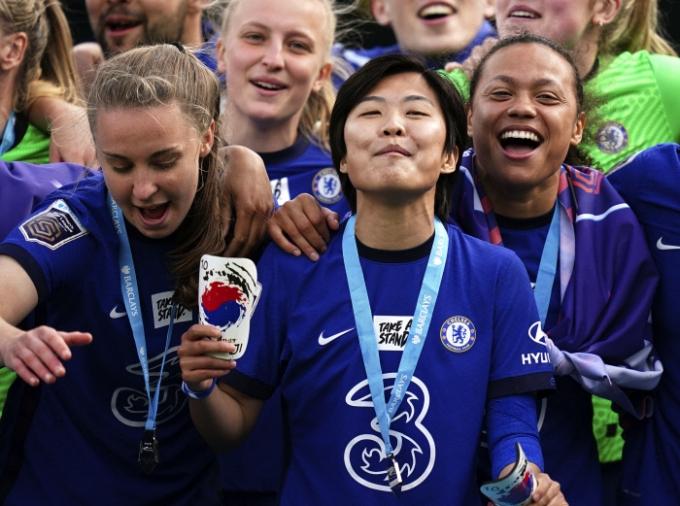 첼시 위민의 지소연(BBC 스포츠 캡처)© 뉴스1