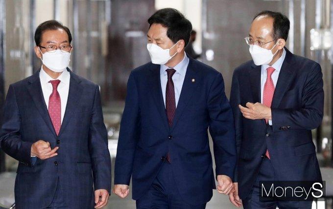 """[머니S포토] 김기현 국힘 대행 """"백신 스와프 협력 방안 마련 할 것"""""""