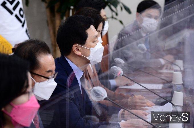 """[머니S포토] 국민의힘 김기현 """"글로벌 경제 선도할 반도체 산업 육성 전략 마련"""""""