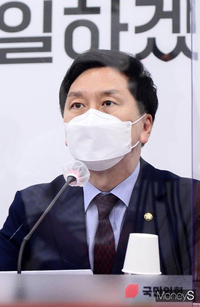 [머니S포토] 국힘 비대위, 발언하는 김기현 대표 대행