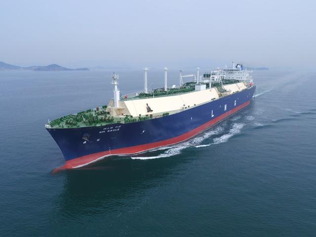 대한해운 LNG 운반선 'SM EAGLE'호의 항해 모습. /사진=대한해운