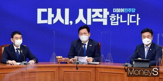 """[머니S포토] 송영길 """"한미정상회담으로 백신 불안해소 기대"""""""