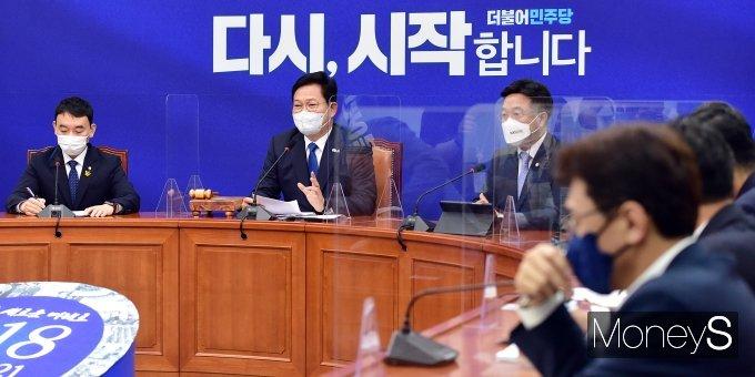 [머니S포토] 한미정상회담 관련 발언하는 송영길