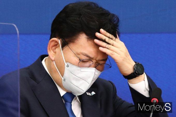 """[머니S포토] 송영길, """"자살·교통사고 사망 줄었지만, 산업현장 크게 나아지지 못해 송구스러"""""""