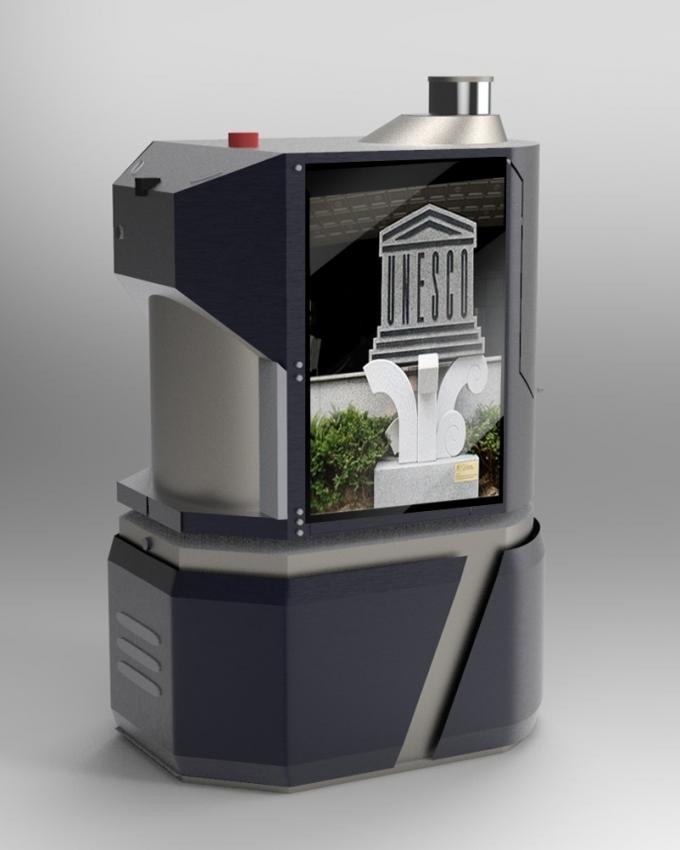 LG유플러스의 5G MEC 지능형 로봇. /사진제공=LGU+