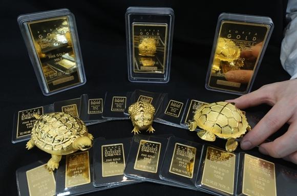 대표적 안전자산인 금  시세가  꾸준히 반등하고 있다./사진=뉴스1