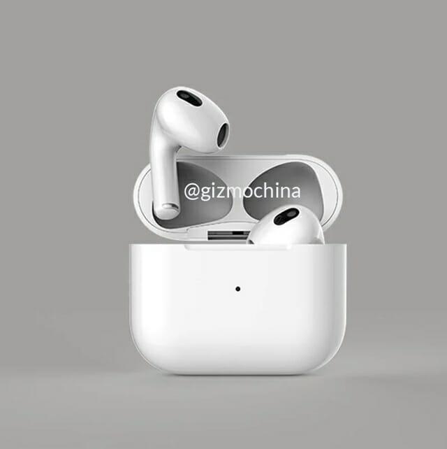 애플의 무선이어폰 에어팟 3세대가 18일(현지시각) 공개될 것이라는 전망이 제기됐다. 사진은 에어팟3세대 렌더링 이미지. /사진=기즈모차이나