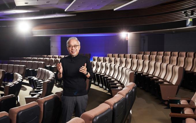최주선 삼성디스플레이 사장이 18일 '디스플레이 위크 2021'에서 '메타버스와 디스플레이의 위대한 미래'를 주제로 기조 연설을 하고 있다. / 사진=삼성디스플레이