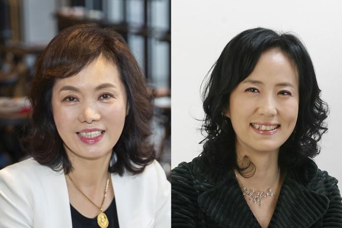롯데카드 여성 사외이사인 이복실 사외이사(왼쪽)와 김수진 사외이사(오른쪽)/사진=롯데카드