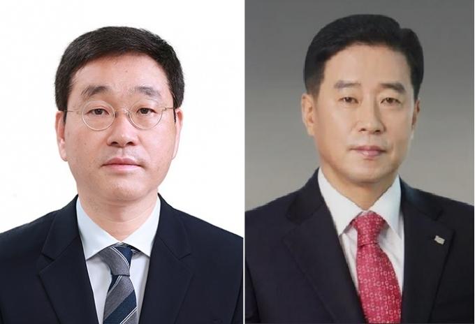 송한용 위원장(왼쪽), 조한홍 부위원장. /사진제공=전문건설공제조합