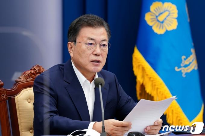 문재인 대통령. 2021.5.3/뉴스1 © News1 유승관 기자