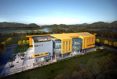 전남 장성군이 장성읍에 건립하는 80억원 규모 다목적 복지회관 '가족센터'가 최근 디자인을 확정 짓고 본격적인 착공에 들어갔다. 가족센터는 지하1층, 지상3층 규모로, 연면적은 3040㎡다./장성군