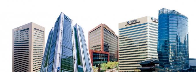 (왼쪽부터) 하나금융, 우리금융, KB금융, 신한금융, NH농협금융./사진=각 사
