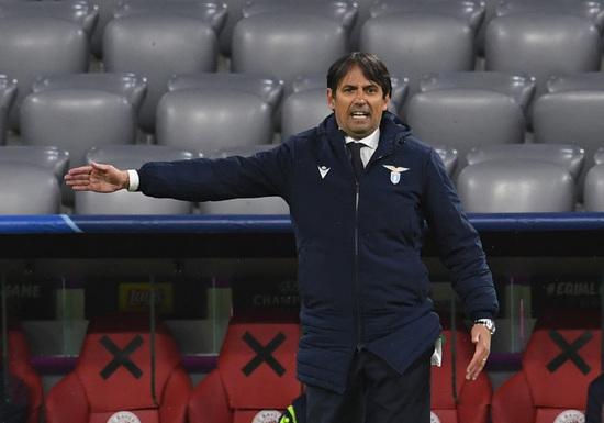 시모네 인자기 라치오 로마 감독이 인터 밀란 감독으로 자리를 옮길 전망이다. 사진은 인자기 감독이 지난 3월 바이에른 뮌헨과의 챔피언스리그 원정경기에서 팀을 이끌 당시의 모습. /사진=로이터