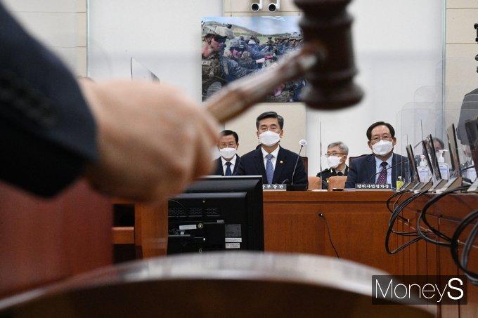 [머니S포토] 국회 국방위, 군장병 급식문제 등 논의