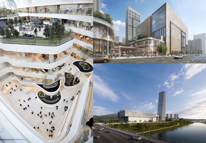 (왼쪽부터 시계 방향으로) 더현대 서울, 롯데백화점 동탄점, 대전신세계 엑스포점 /사진=각 사