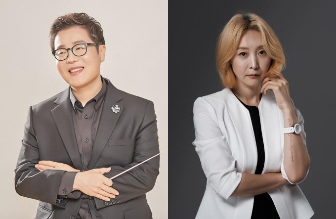 작곡가 겸 음악감독 이성준(좌), 극작가 겸 연출가 추정화(우)/EMK엔터테인먼트 제공