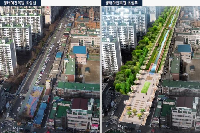 인천시는 '굴포천 생태하천 복원사업 착공식'을 개최했다./사진=인천시 캡처