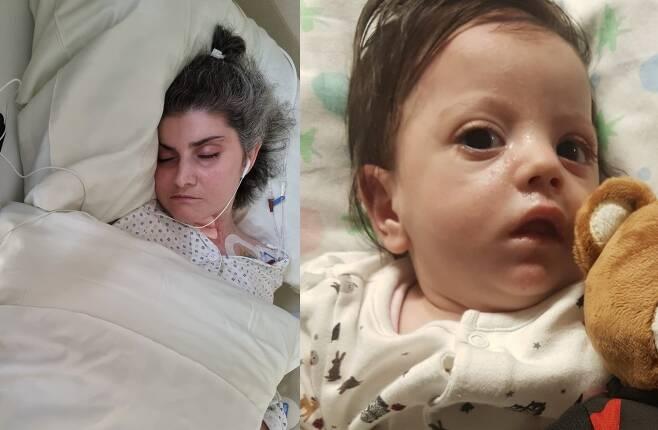 11일(현지시각) 영국 데일리메일은 혼수상태에 빠진 채 아이를 출산한 이탈리아 여성(왼쪽)이 기적적으로 깨어나 딸과 만난 감동적인 사연을 소개했다. /사진=뉴스1(고펀드미 캡처)