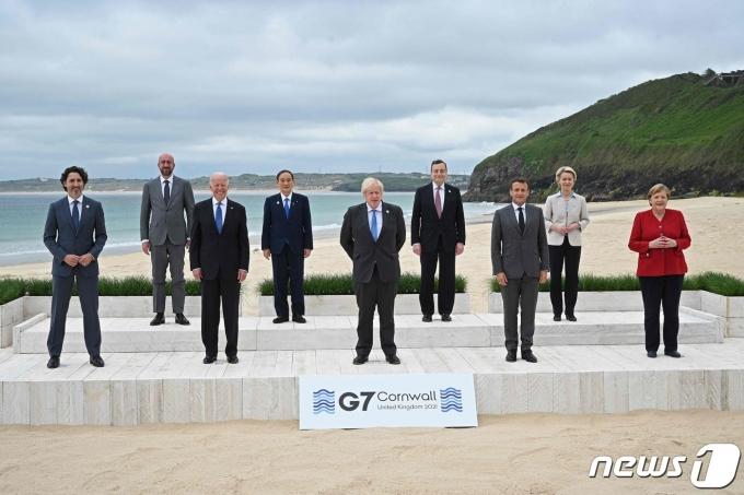 주요7개국(G7) 정상회담 기념사진 © AFP=뉴스1