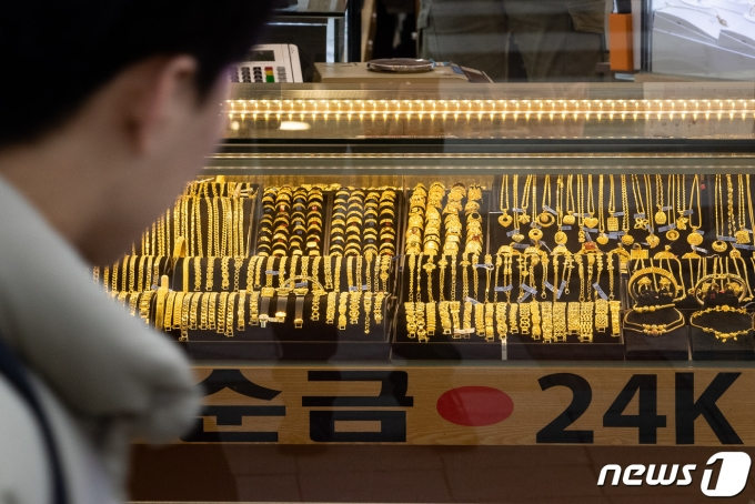 서울 종로의 한 귀금속 매장. © News1 자료사진