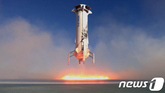 뉴세퍼드호가 텍사스 주 밴혼의 웨스트텍사스 발사장에서 발사되고 있다. © 로이터=뉴스1 © News1 우동명 기자