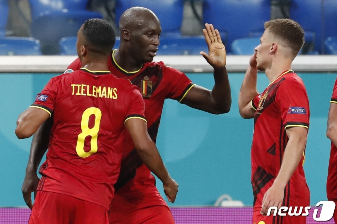 러시아를 3-0으로 꺾은 벨기에 © AFP=뉴스1