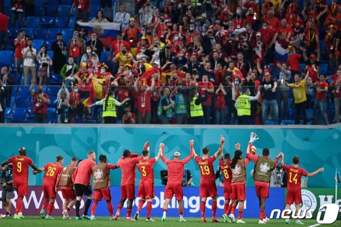 유로 2020 첫 경기에서 완승을 거둔 벨기에 © AFP=뉴스1