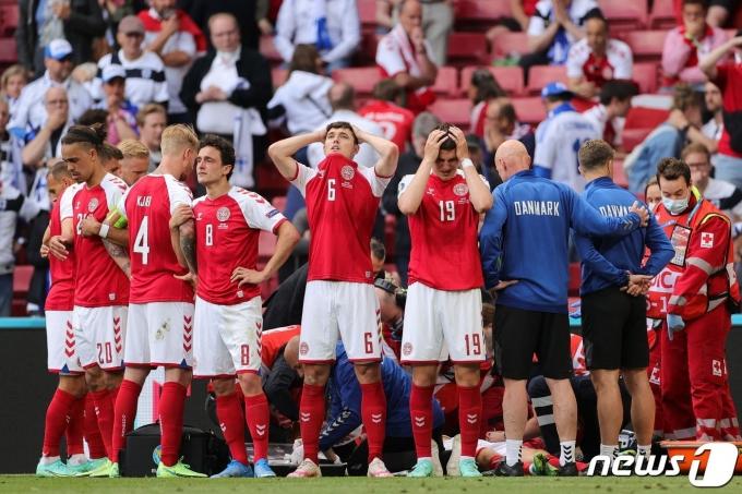 덴마크 선수단 © AFP=뉴스1