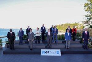G7 대한민국의 국격 이렇다… 좌 '존슨' 우 '바이든'