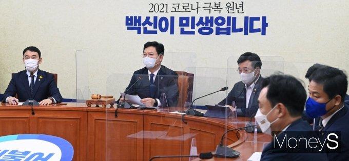 """[머니S포토] 민주당 송영길 """"국힘 이준석 '여야정 상설협의체' 가동 요청"""""""