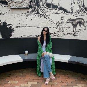'제주도 여행' 한예슬, 스타일리시한 패션감각