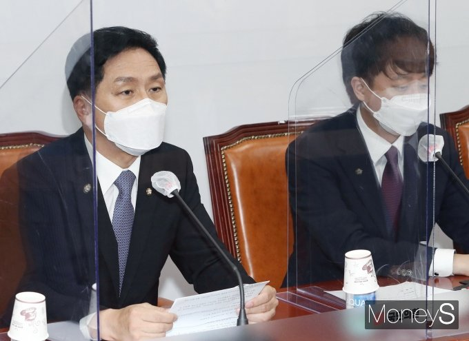 [머니S포토] 국민의힘 최고위, 발언하는 김기현 원내대표
