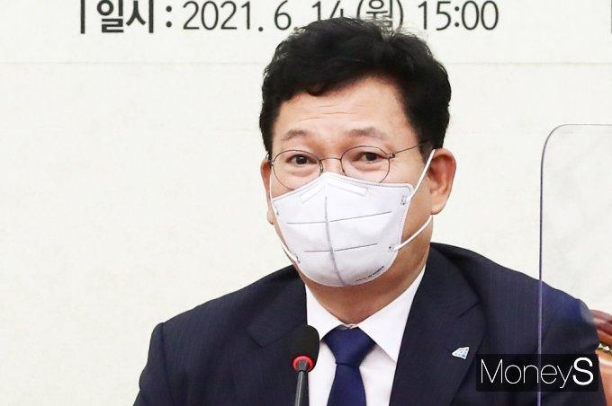 [머니S포토] 코로나19 백신 언급하는 與 '송영길'