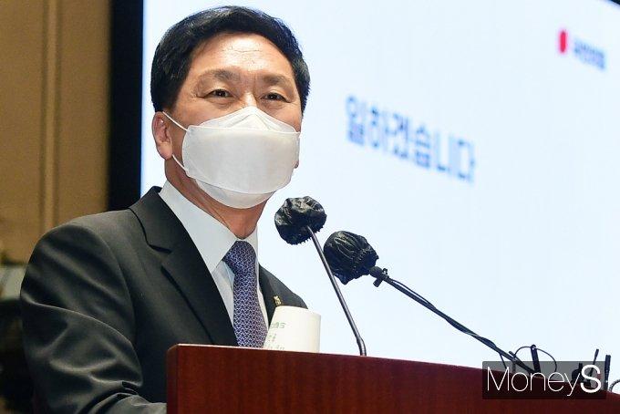 """[머니S포토] 김기현 """"이준석 백신, 정치 오염된 현장 정리·희망 만들어 갈 좋은 지표될 것"""""""